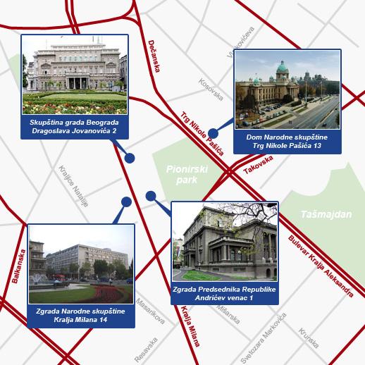 skupstina srbije mapa Narodna skupština Republike Srbije | Kontakt telefon: 011 3026 100 skupstina srbije mapa