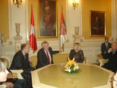 9 April 2012 National Assembly Speaker Prof. Dr Slavica Djukic Dejanovic in meeting with the President of the National Council of Switzerland