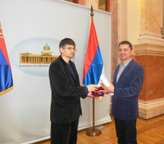7 February 2014 The Chairman of the Committee on the Diaspora and Serbs in the Region and the Editor-in-Chief of the Serbian Weekly Newspaper from Budapest