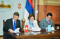 7 December 2015  Signing ceremony of the Statement of Cooperation between the National Assembly, Swiss Agency for Development and Cooperation and the UNDP (photo ©UNDP Serbia)