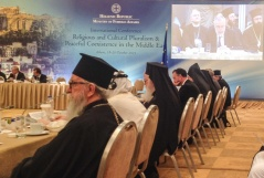 "20 October 2015 The participants of the conference on ""Religious and Cultural Pluralism and Peaceful Coexistence in the Middle East"" in Athens"