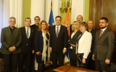 21 December 2015 The members of the European Integration Committee and EP Rapporteur for Serbia David McAllister