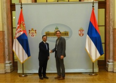 28 November 2015 National Assembly Deputy Speaker Prof. Dr Vladimir Marinkovic and US Department of State Special Adviser Andrew Rabens