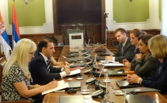 30 July 2015 National Assembly Deputy Speaker Prof. Dr Vladimir Marinkovic and USAID Serbia Mission Director Azza El-Abd