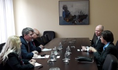 21 April 2017 The Chairman of the Foreign Affairs Committee in meeting with the Ambassador of the Czech Republic to Serbia