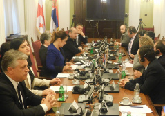 5 December 2018 The members of the European Integration Committee in meeting with the Georgian parliamentary delegation