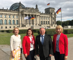 9 July 2018 The members of the PFG with Germany with the Head of Bundestag SEE Cooperation Group