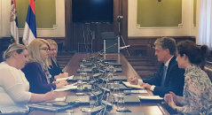 21 December 2018 The Head of the National Assembly delegation to PACE in meeting with the Head of the Council of Europe Office in Belgrade
