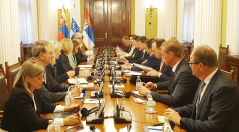 4 June 2019 National Assembly Speaker Maja Gojkovic in meeting with Czech Minister of Foreign and European Affairs and OSCE Chairperson-in-Office Miroslav Lajcak
