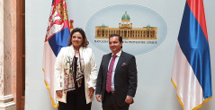 5 September 2019 National Assembly Deputy Speaker Prof. Dr Vladimir Marinkovic with the Minister of Foreign Affairs of the Republic of Guatemala with Sandra Jovel Polanco