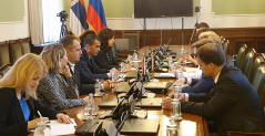 6 June 2019 The National Assembly Deputy Speaker in meeting with the delegations of Russian and Serbian ombudspersons