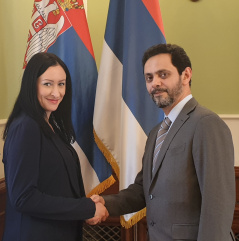 7 March 2019 The Head of the PFG with UAE and the UAE Ambassador to Serbia