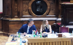 23 September 2019 MPs Mladen Grujic and Dr Aleksandra Jerkov at the meeting of the Steering Committee of the Twelve Plus Group