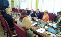 10 April 2019 The members of the European Integration Committee in meeting with the delegation of the Hungarian Parliamentary Friendship Group with Serbia