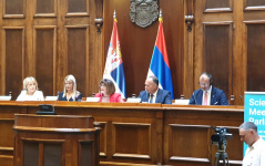 "10 July 2019 National Assembly Speaker Maja Gojkovic at the opening of Conference ""Science Meets Parliaments"""
