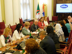 10 July 2019 The Women's Parliamentary Network in meeting with the Algerian parliamentary delegation