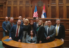 18 December 2019 The members of the PFG with the US and the US Ambassador to Serbia