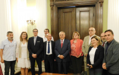 24 July 2019 The members of the Parliamentary Friendship Group with Albania and the Albanian Ambassador to Serbia