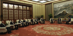 27 May 2019 The National Assembly delegation in meeting with the of the Chairman of the Chinese National People's Congress