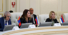 30 April 2019 Stefana Miladinovic and Dusica Stojkovic at 2nd International Conference of the OSCE PA Silk Road Support Group