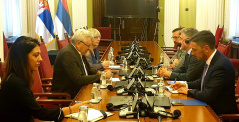 12 July 2019 The of the Committee on the Judiciary, Public Administration and Local Self-Government Petar Petrovic in meeting with the Head of Council of Europe Office Serbia Tobias Flessenkemper