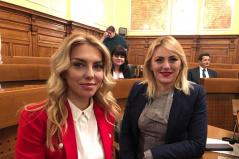 14 May 2019 The Chairperson of the Committee on Spatial Planning, Transport, Infrastructure and Telecommunications Katarina Rakic and Committee member Snezana B. Petrovic in study visit to Slovenia