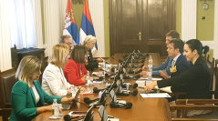 8 July 2019 National Assembly Speaker Maja Gojkovic in meeting with the Head of the OSCE Mission to Serbia Andrea Orizio
