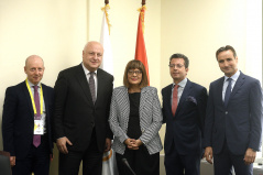 15 October 2019 National Assembly Speaker Maja Gojkovic and OSCE PA President George Tsereteli