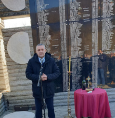 16 January 2020 The Chairman of the Committee on the Diaspora and Serbs in the Region at the commemoration of sufferings of Serbs in Skelani (Municipality of Srebrenica)