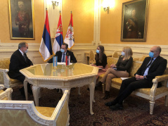 12 January 2021 National Assembly Speaker Ivica Dacic and Argentine Ambassador to Serbia Estanislao Zawels