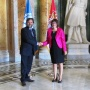 7 September 2017 National Assembly Speaker Maja Gojkovic and President of the Parliamentary Assembly of the Mediterranean Pedro Roque