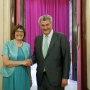 6 July 2015 National Assembly Speaker Maja Gojkovic in meeting with the Speaker of the Spanish Congress of Deputies Jesus Maria Posada Moreno